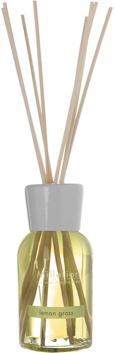 Диффузор ароматический Millefiori Milano Natural, лемонграсс, с палочками, 100 млJV0202-4Диффузор ароматический Millefiori Milano Natural имеет ноты цитрусовых вербены и лимонных корок.Базовые ноты: сладкий апельсин, литсея кубеба, лимонные корки.Средние ноты: белый персик, цветы апельсина. Верхние ноты: марокканский кедр.