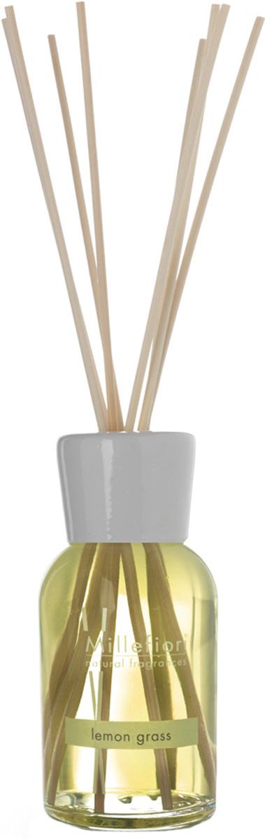 Диффузор ароматический Millefiori Milano Natural, лемонграсс, с палочками, 250 мл диффузор ароматический millefiori milano natural ваниль и дерево с палочками 250 мл