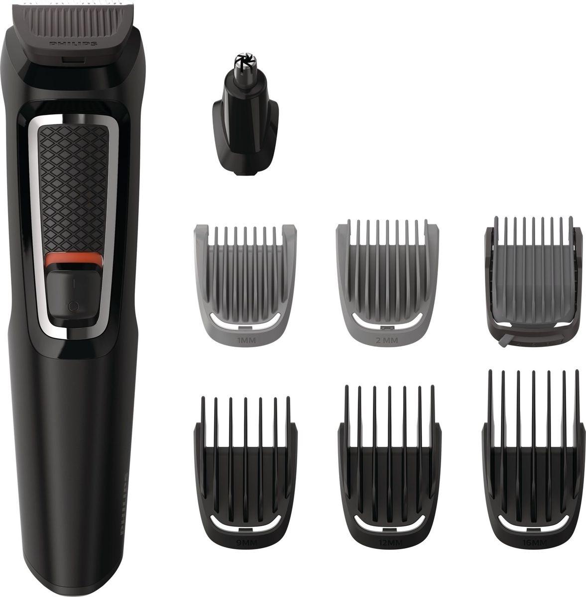 Philips MG3730/15, Black универсальный триммерMG3730/15Универсальный триммер 8-в-1. Вы в любое время можете сменить свой образ, используя этот надёжный универсальный триммер с 8-ю принадлежностями для лица и волос - он позволяет в точности воплотить задуманное. Чехол для удобства при хранении и в путешествиях в комплекте.Универсальность и легкость использования:Подравнивайте волосы на голове и лице и создавайте свой стиль с 8 принадлежностямиТриммер стрижет волосы и создает контуры бороды для завершения образаТриммер для носа бережно удаляет нежелательные волоски в носу и ушах6 гребней для подравнивания волос на лице и головеДо 60 минут автономной работы после зарядкиНасадки удобно промывать