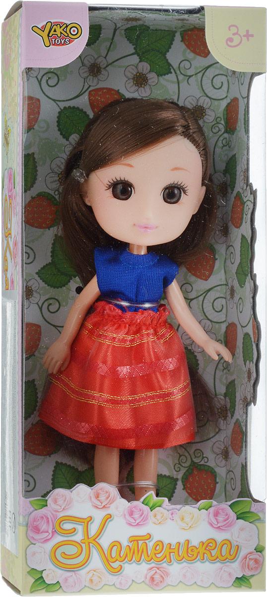 YakoКукла Катенька цвет платья синий красный