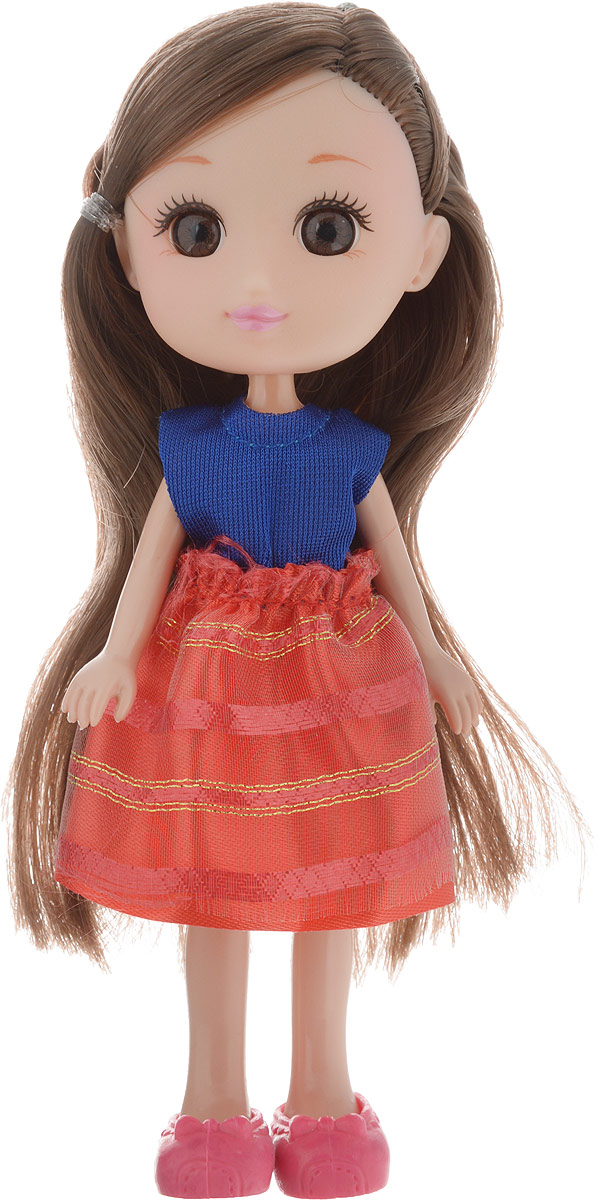 Yako Кукла Катенька цвет платья синий красный yako кукла софи цвет платья бордовый
