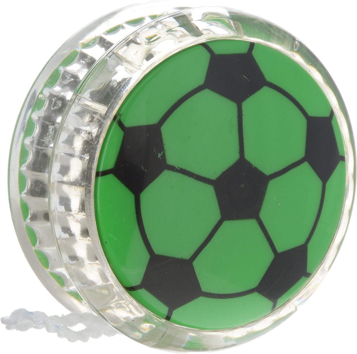 Эврика Йо-йо Футбол №3 цвет зеленый