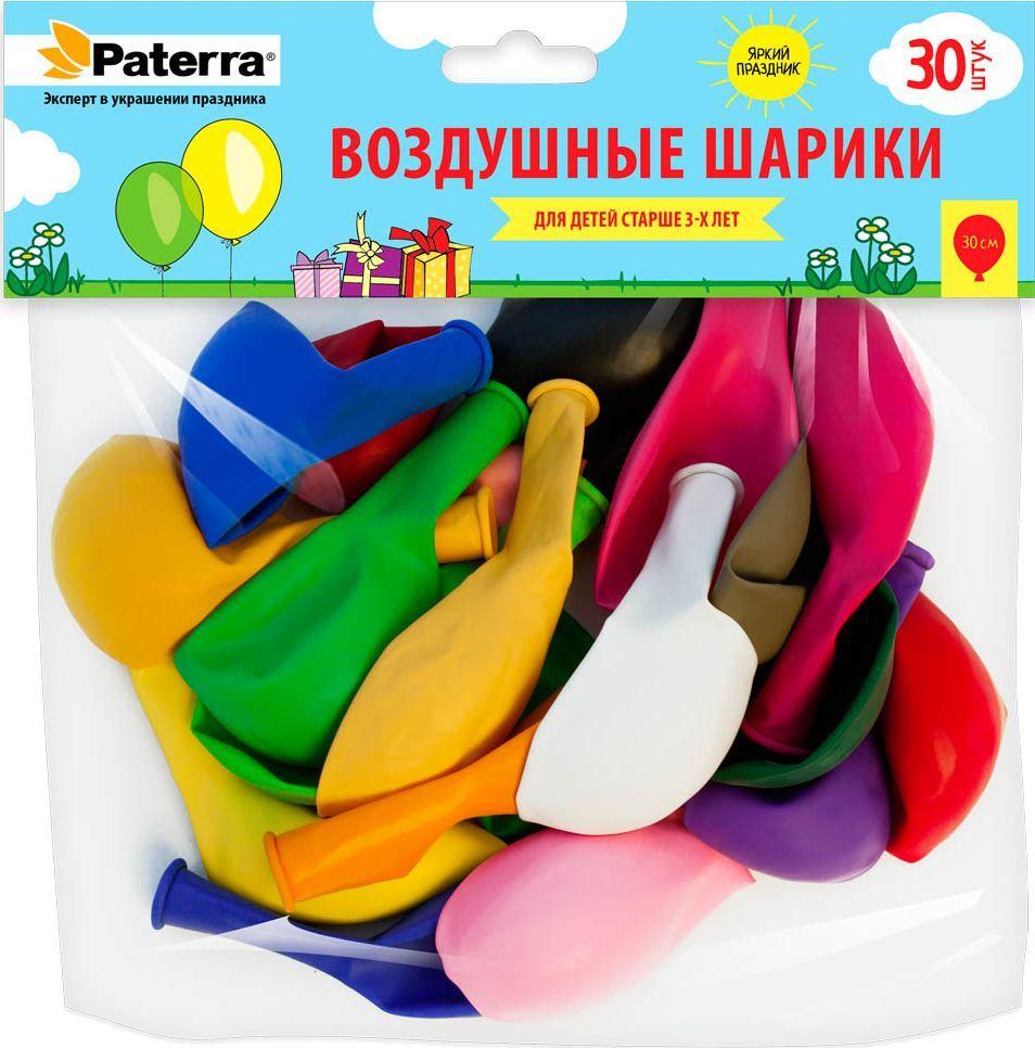 Воздушные шарики Paterra, 30 см, круглые, 30 шт paterra венчик кухонный силиконовый paterra 30 см