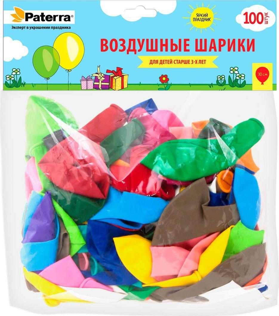 Воздушные шарики Paterra, 30 см, круглые, 100 шт paterra венчик кухонный силиконовый paterra 30 см