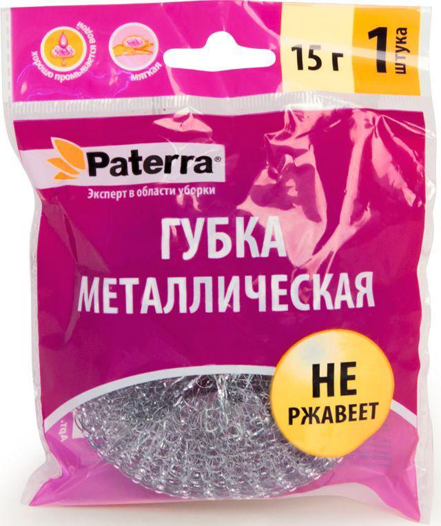Губка металлическая Paterra губка для мытья посуды фозет мини соты 2 шт