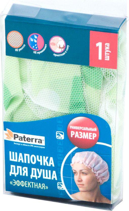 Шапочка для душа Paterra Эффектная, универсальный размер57201_синийПредназначена для защиты волос от намокания во время водных процедур. Изготовлена изткани, обеспечивающей барьер для воды.