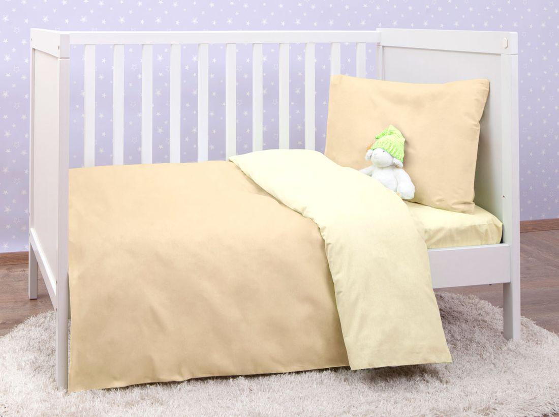 Mirarossi Комплект детского постельного белья Ninna Nanna цвет бежевый 10тр-MR-дм10тр-MR-дмКоллекция: Ninna Nanna Комплектация: наволочка 40 х 60 см, пододеяльник для одеяла 140 х 110 см, простынь на резинке для матраса 120 х 60 см . Материал: 100% хлопок,трикотаж.