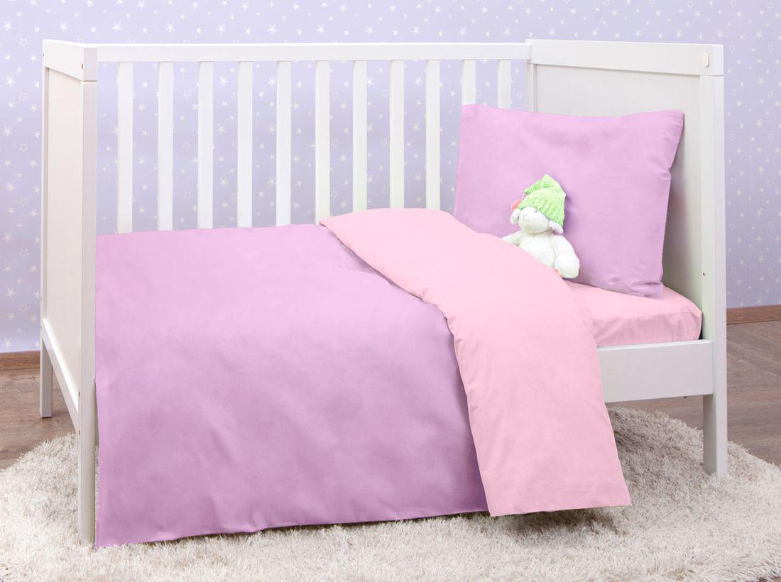 Mirarossi Комплект детского постельного белья Ninna Nanna цвет фиолетовый 10тр-MR-дм10тр-MR-дмКоллекция: Ninna Nanna Комплектация: наволочка 40 х 60 см, пододеяльник для одеяла 140 х 110 см, простынь на резинке для матраса 120 х 60 см . Материал: 100% хлопок,трикотаж.