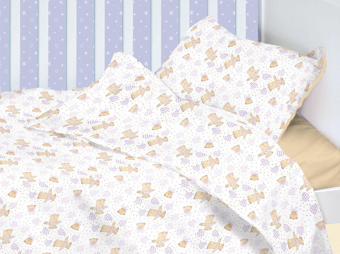 Mirarossi Комплект детского постельного белья Ninna Nanna Orsetto цвет белый бежевый10тр-MR-днПастельное белье из 3 предметов для мальчиков и девочек. Благодаря пигментному способу нанесение печати, даже после многократных стирок, постельное белье сохраняет свой первоначальный вид. Хлопок имеет ряд уникальных свойств: экологичность, гипоаллергенность, благодаря особому способу переплетения нитей в полотне, обеспечивается особая плотность ткани, что делает ее устойчивой к износу, сохраняется внешний вид на долгие годы.Наволочка: 40 х 60 см.Пододеяльник: 140 х 110 см.Простынь на резинке для матраса: 120 х 60 см.