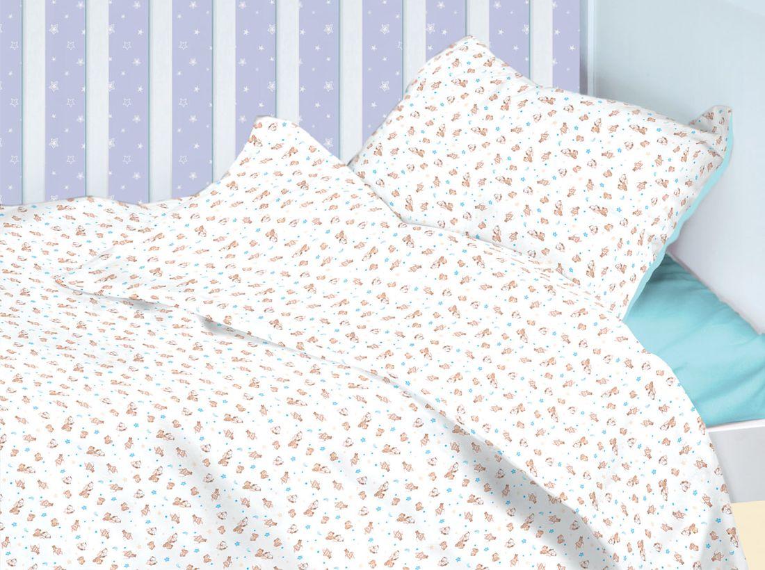 Mirarossi Комплект детского постельного белья Ninna Nanna Astronomi цвет белый коричневый голубой