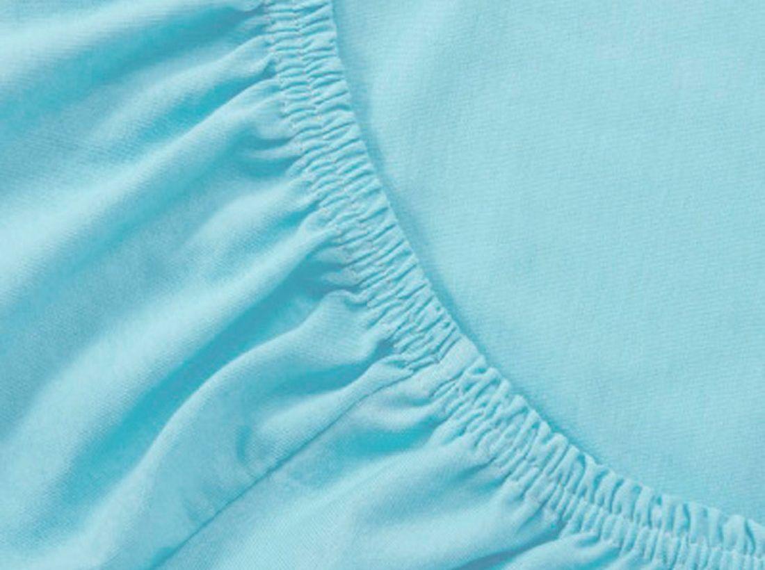 Mirarossi Простыня на резинке Ninna Nanna цвет бирюзовый 60 см х 120 см х 15 см60тр-ПнРПростынь на резинке для матраса 120 х 60 см . Материал: 100% хлопок,трикотаж.