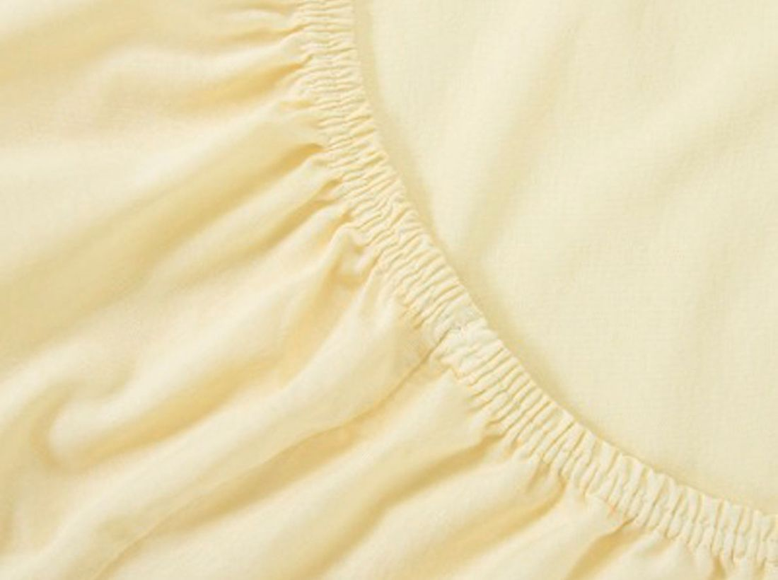 Mirarossi Простыня на резинке Ninna Nanna цвет бежевый 60 см х 120 см х 15 см60тр-ПнРПростынь на резинке для матраса 120 х 60 см . Материал: 100% хлопок,трикотаж.