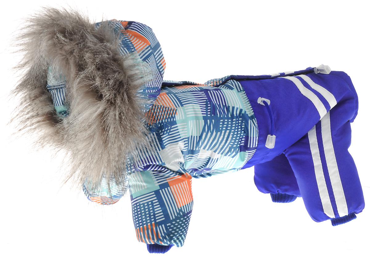 """Комбинезон для собак Kuzer-Moda """"Куртка-брюки"""", утепленный, унисекс, цвет: синий. Размер M"""
