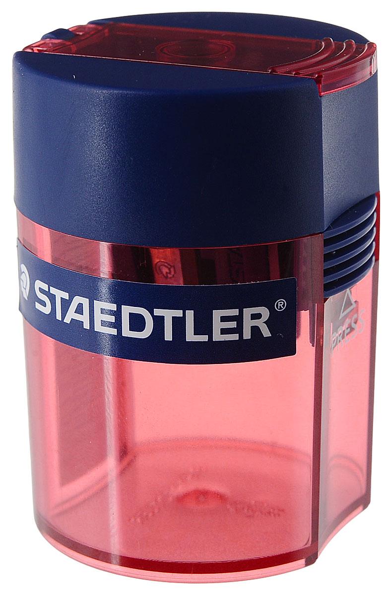 Staedtler Точилка Tradition цвет синий красный 1 гнездо511006_синий, красныйТочилка-бочонок с контейнером предназначена для стандартных чернографитовых карандашей диаметром до 8 мм с углом заточки 23° для четких и аккуратных линий. Металлическая затачивающая часть. Закрытая конструкция предотвращает высыпание мусора во время заточки. Безопасный крепеж крышки.
