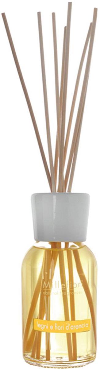 Диффузор ароматический Millefiori Milano Natural, лес и полевые цветы, с палочками, 250 мл ароматизатор millefiori milano via brera бергамот сменный блок 250 мл