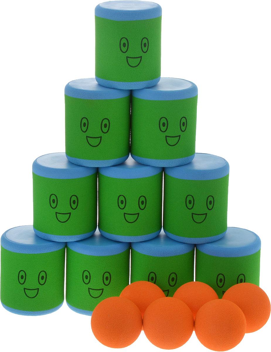 Safsof Игровой набор Городки цвет зеленый голубой оранжевый городки