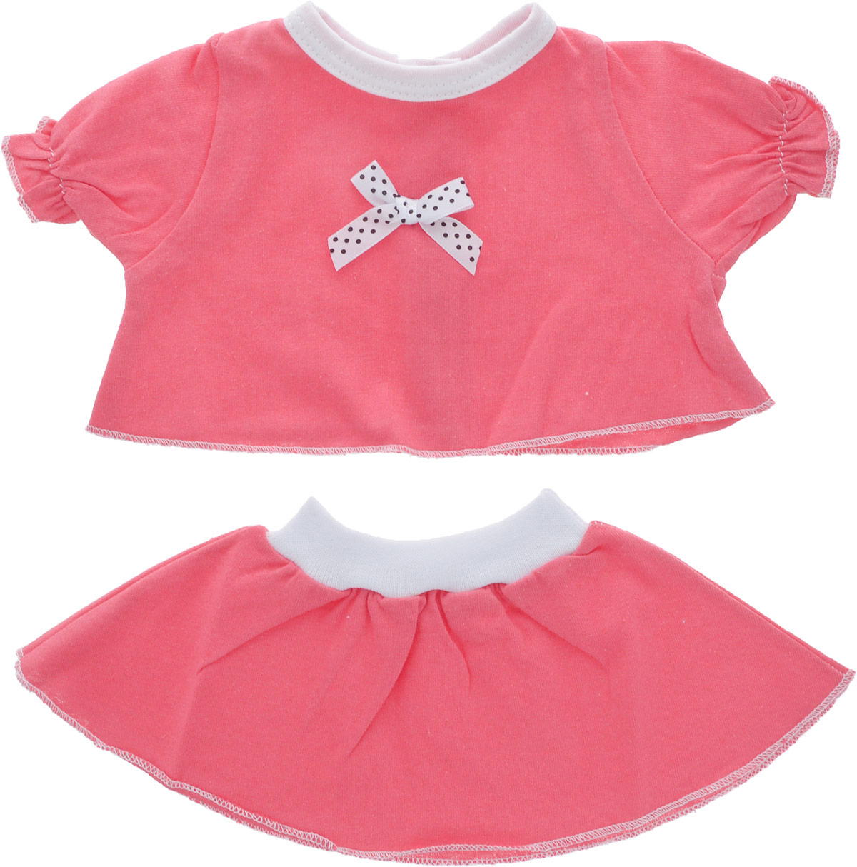 Карапуз Комплект одежды для куклы Футболка и юбка цвет коралловый куклы карапуз кукла карапуз принцесса рапунцель 25 см