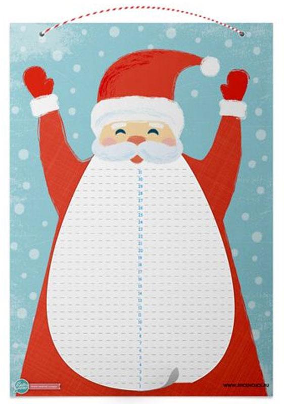 Cute'n Clever Адвент-календарь Дед Мороз с отрывной бородой гражданцева о снится дедушке морозу
