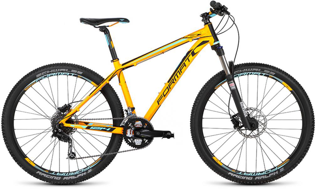 Велосипед горный Format 1214 (2015), цвет: желтый, рама 17, колесо 27,5232748