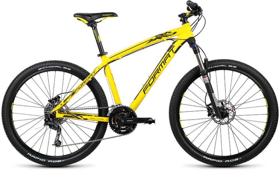 Велосипед горный Format 1411 Elite (2015), цвет: желтый, рама 17, колесо 26232881