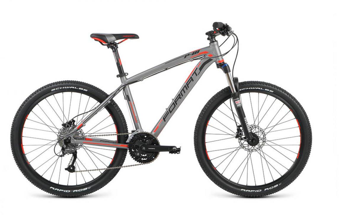Велосипед горный Format 1411 (2016), цвет: серый, рама 18, колесо 26260725