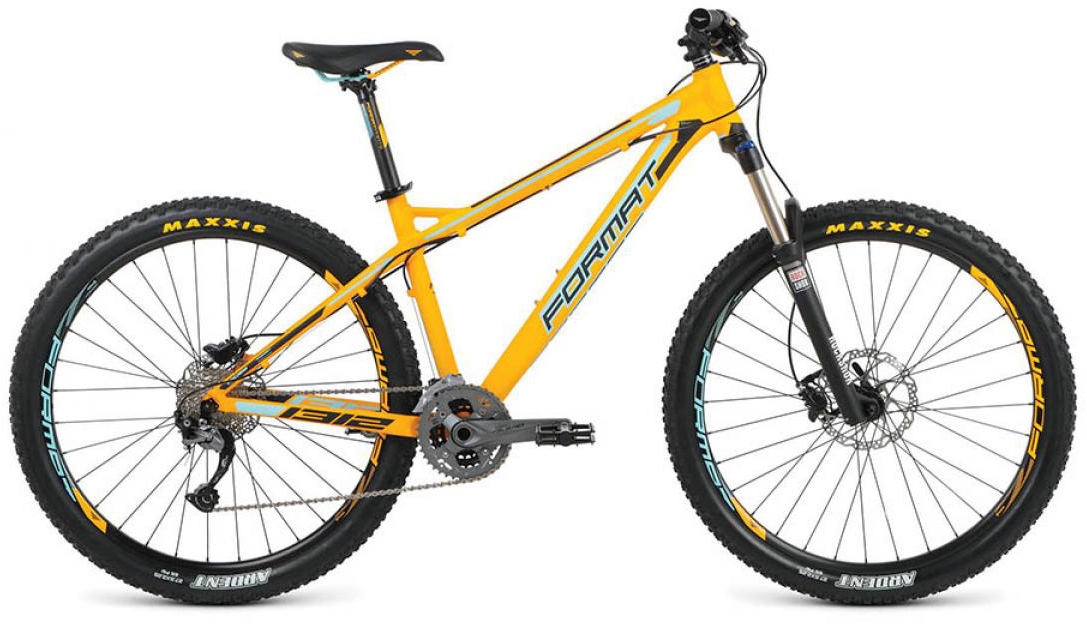 Велосипед горный Format 1312 (2016), цвет: желтый, рама 18, колесо 27,5260774