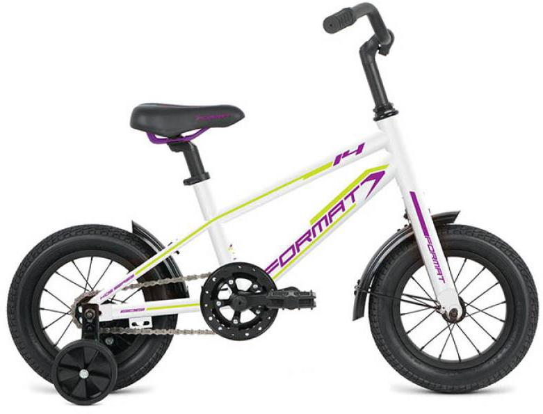 Велосипед детский Format Girl (2016), цвет: белый, колесо 14 велосипед format kids girl 14 2017