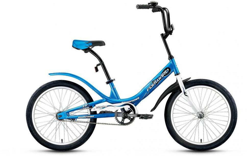 Велосипед детский Forward Scorpions 1.0 2016, цвет: синий, рама 10,5, колесо 20275085