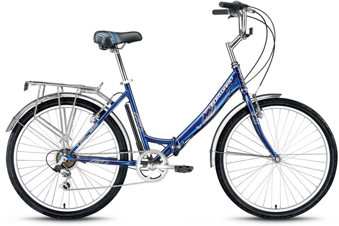 Велосипед складной Forward Sevilla 2.0 2016, цвет: синий, рама 18,5, колесо 26 велосипед forward sevilla 2 0 2014