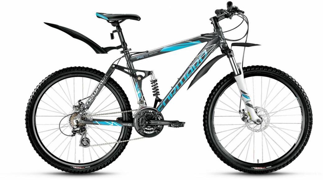 Велосипед горный Forward Spike 1.0 2016, цвет: серый, рама 18, колесо 26275105