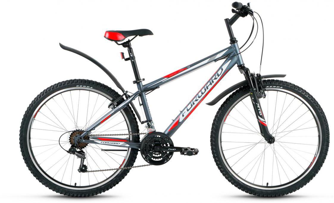 Велосипед горный Forward Sporting 1.0 2016, цвет: серый, рама 17, колесо 26275109