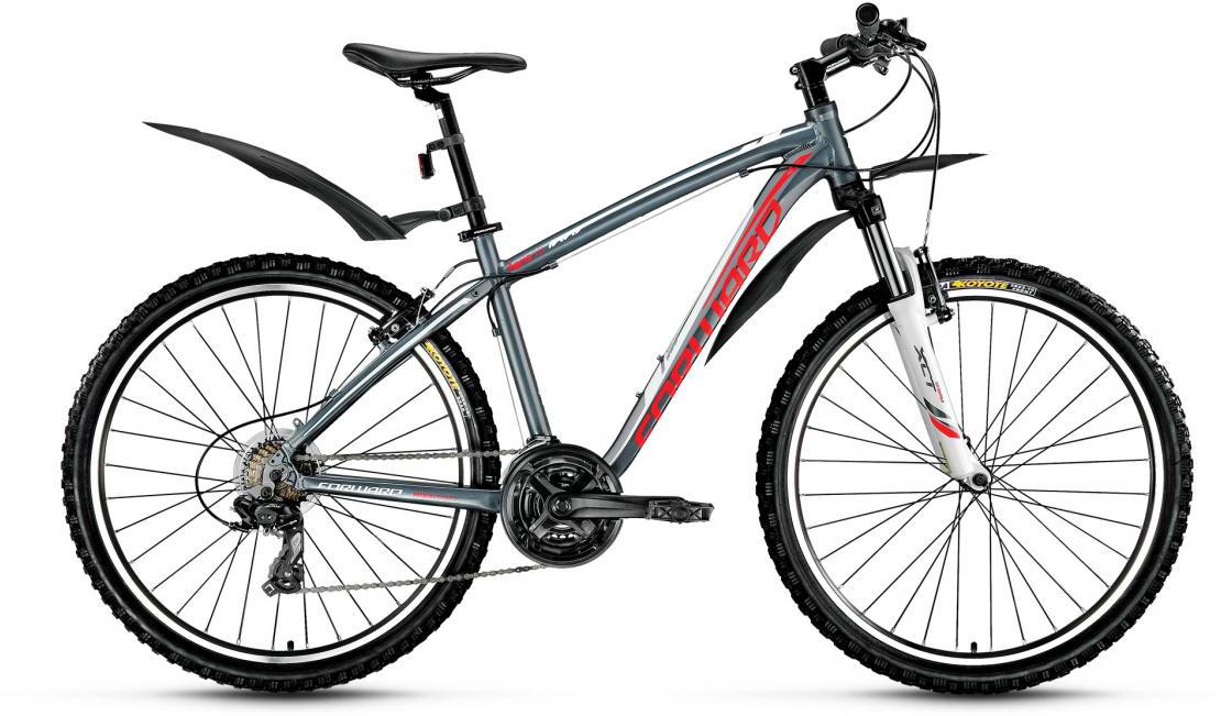 Велосипед горный Forward Agris 1.0 2016, цвет: серый, рама 19, колесо 26275111