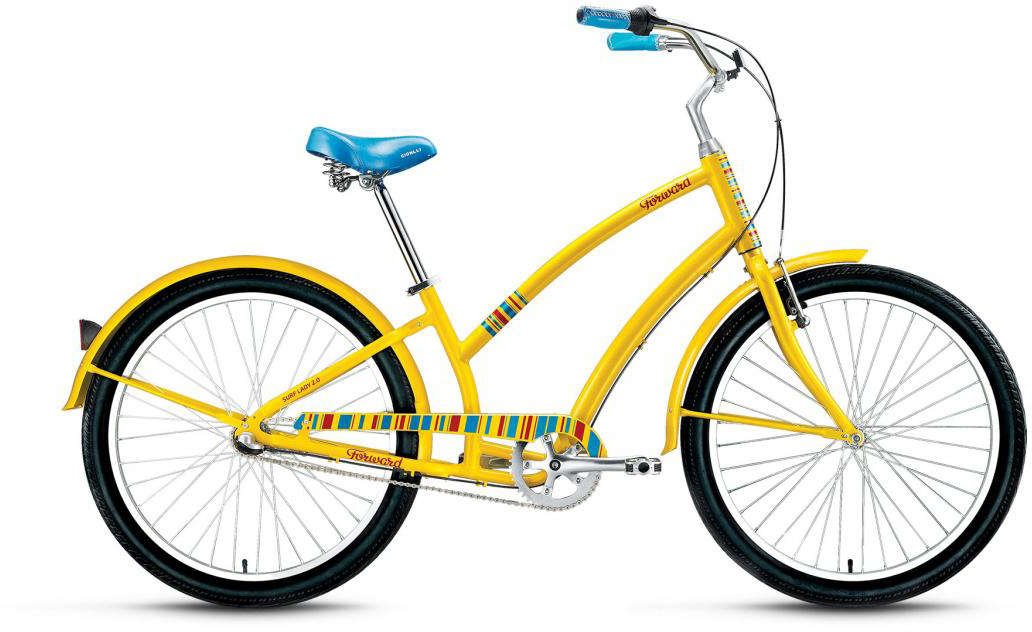 Велосипед городской Forward Surf Lady 2.0 2016, цвет: желтый, рама 15, колесо 26275125