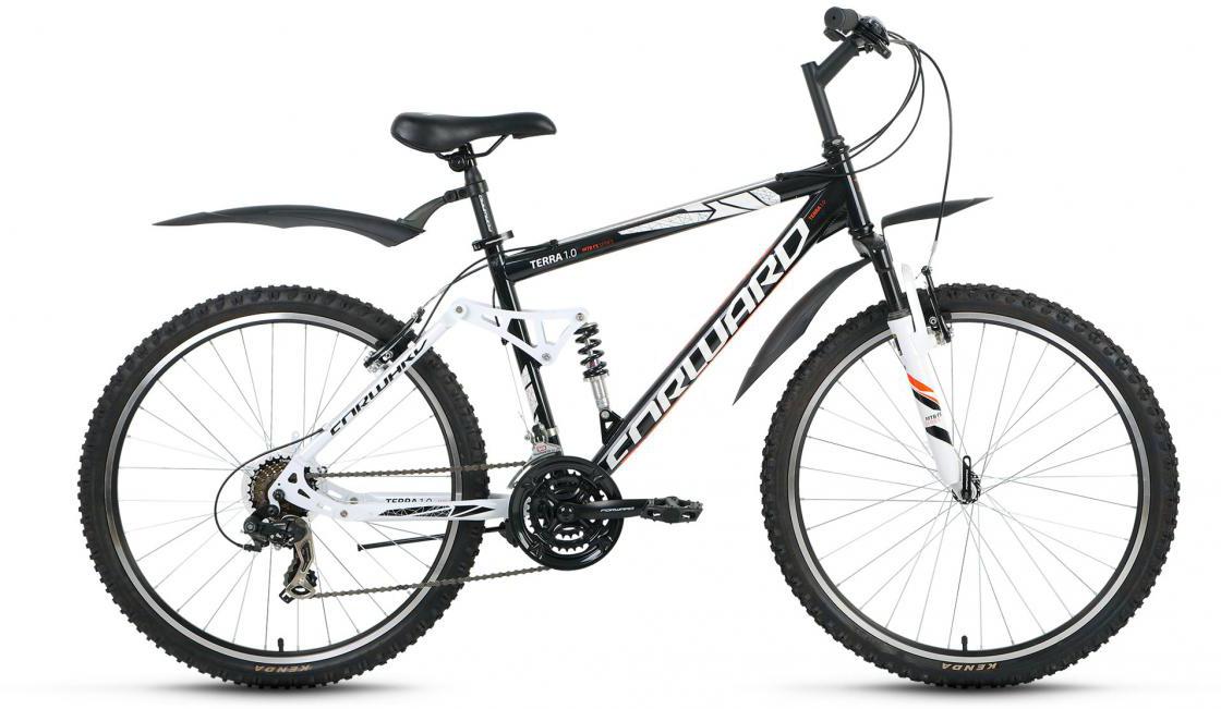 Велосипед горный Forward Terra 1.0 2016, цвет: черный, рама 18, колесо 26275132