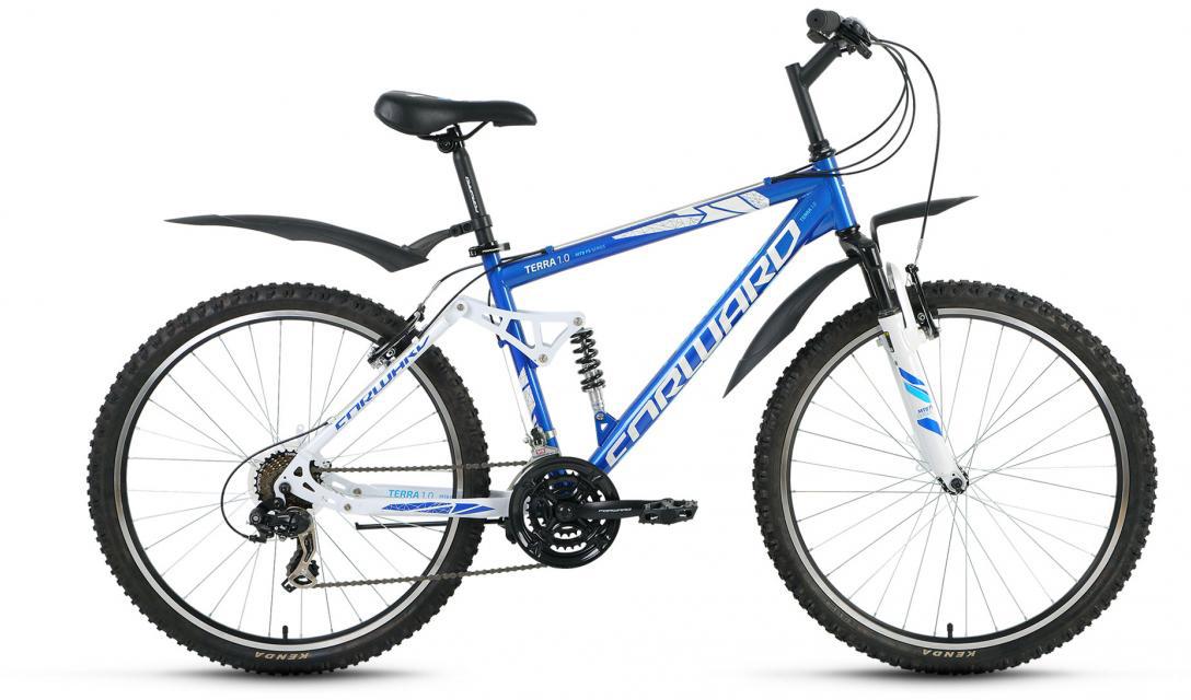 Велосипед горный Forward Terra 1.0 2016, цвет: синий, рама 18, колесо 26 велосипед forward terra 2 0 disc 18 2017 black white