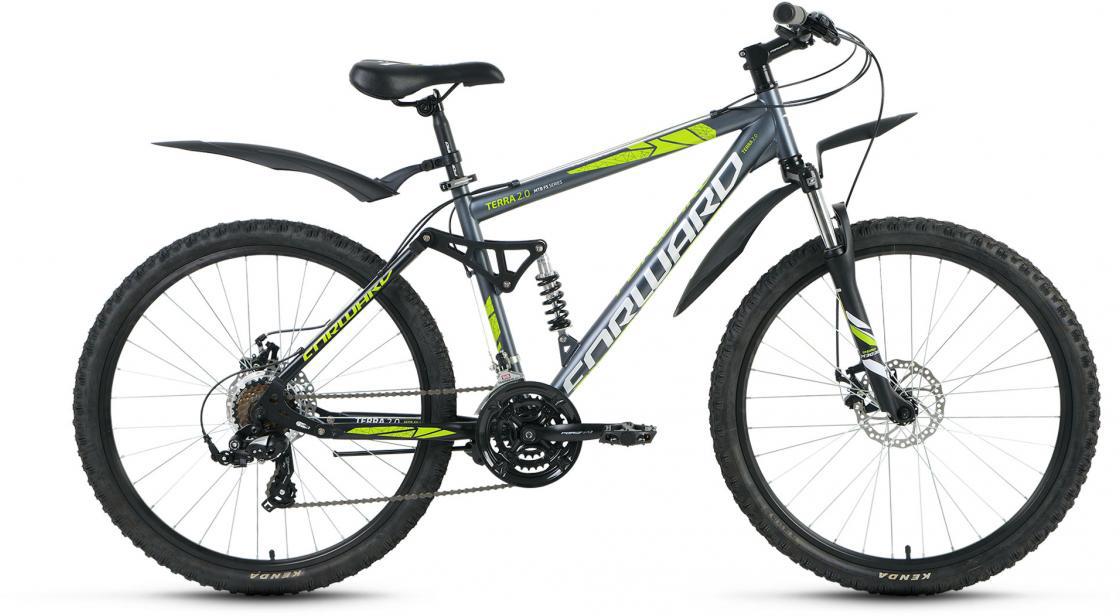Велосипед горный Forward Terra 2.0 2016, цвет: серый, рама 18, колесо 26 велосипед forward terra 2 0 disc 18 2017 black white