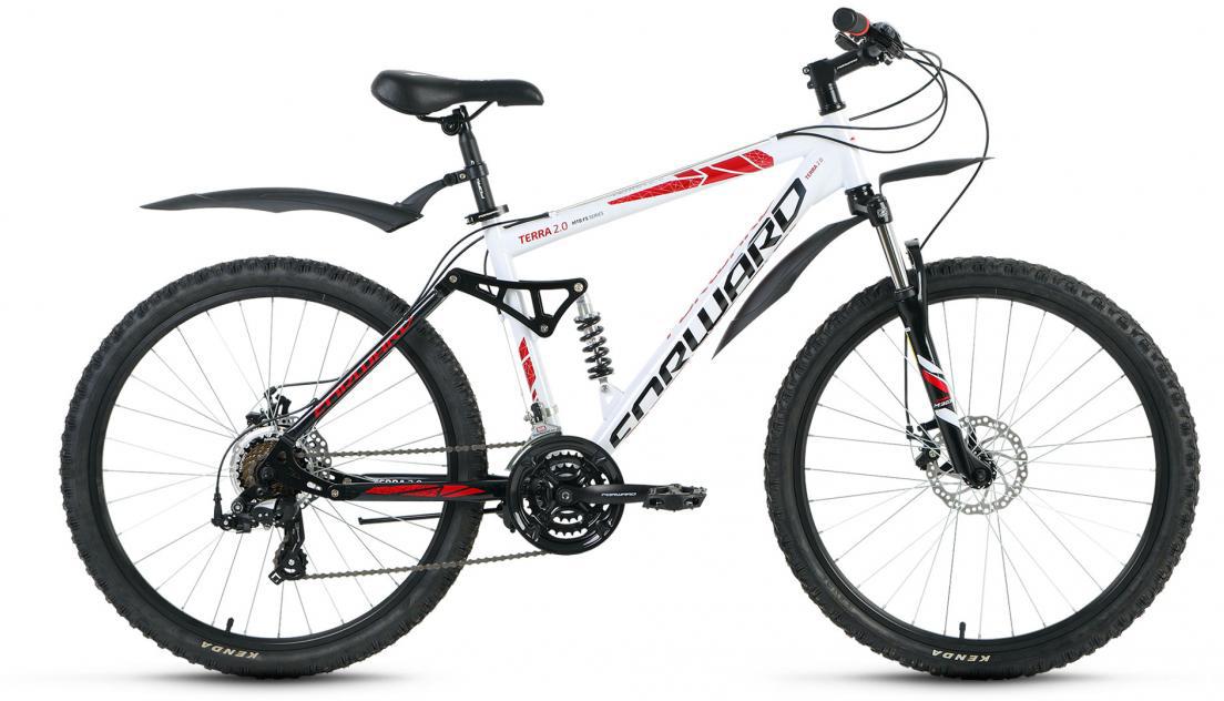 Велосипед горный Forward Terra 2.0 2016, цвет: белый, рама 18, колесо 26 велосипед forward terra 2 0 disc 18 2017 black white