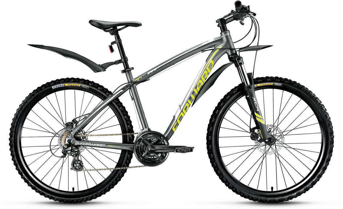 Велосипед горный Forward Agris 2.0 2016, цвет: серый, рама 19, колесо 26275139