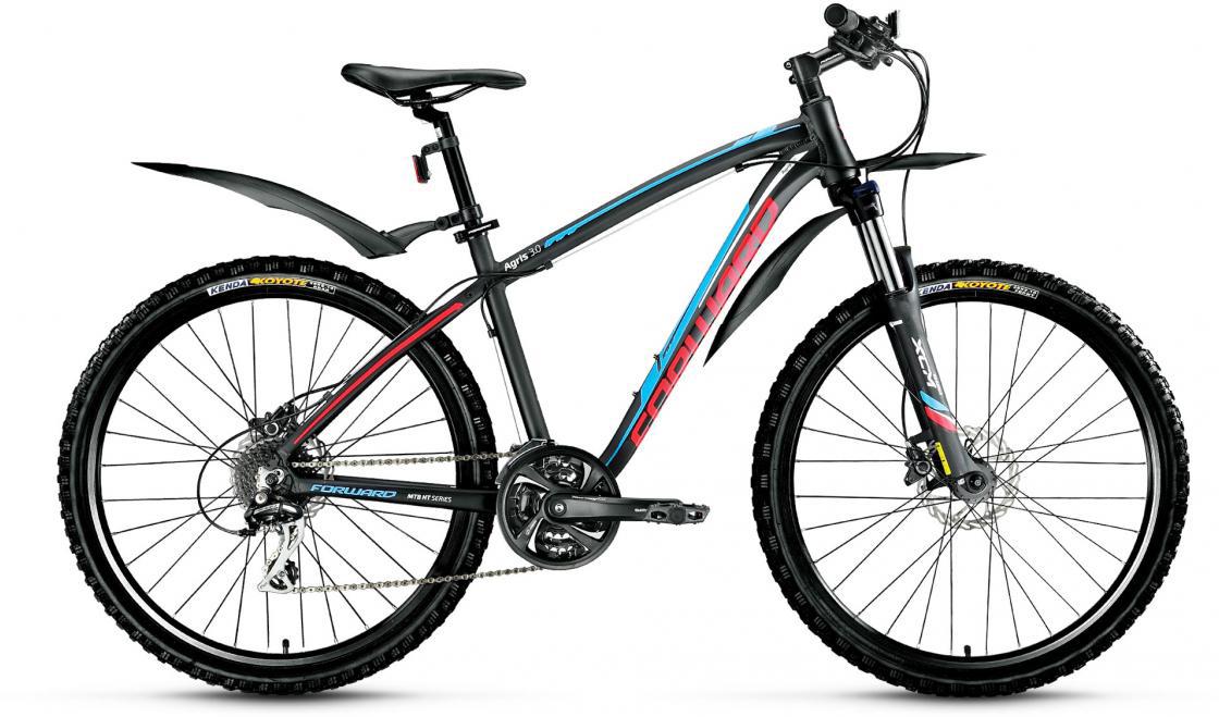 Велосипед горный Forward Agris 3.0 2016, цвет: черный, рама 17, колесо 26 велосипед forward agris 3 0 disc 2016