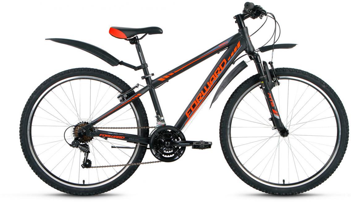 Велосипед горный Forward Toronto 1.0 2016, цвет: черный, рама 14, колесо 26275160