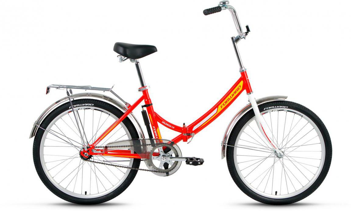 Велосипед детский Forward Valencia 1.0 2016, цвет: красный, колесо 24275199