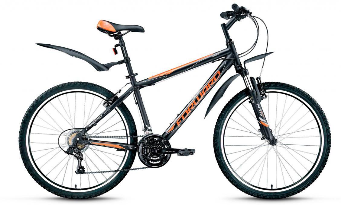Велосипед горный Forward Apache 1.0 2016, цвет: черный, рама 17, колесо 26 forward apache 2 0 disc 17 2016 grey matt