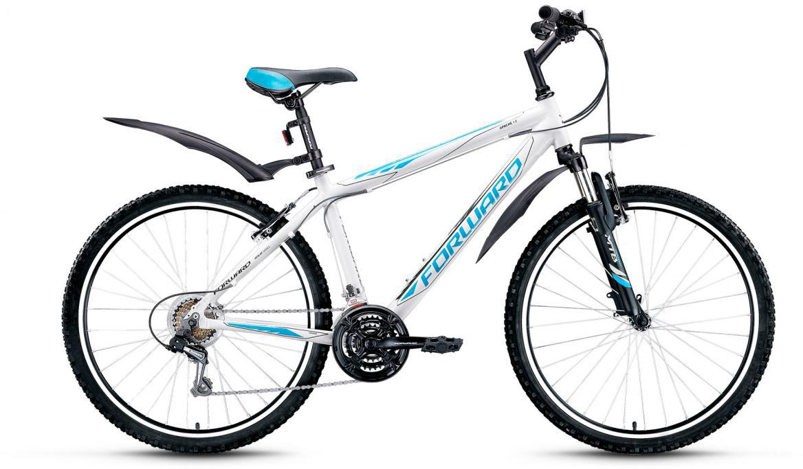 Велосипед горный Forward Apache 1.0 2016, цвет: белый, рама 17, колесо 26 forward apache 2 0 disc 17 2016 grey matt