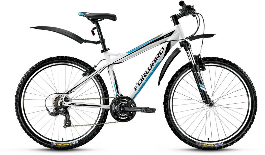 Велосипед горный Forward Quadro 1.0 2016, цвет: белый, рама 17, колесо 26275256