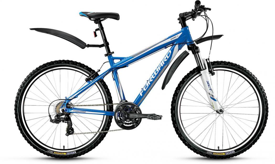 Велосипед горный Forward Quadro 1.0 2016, цвет: синий, рама 21, колесо 26275259