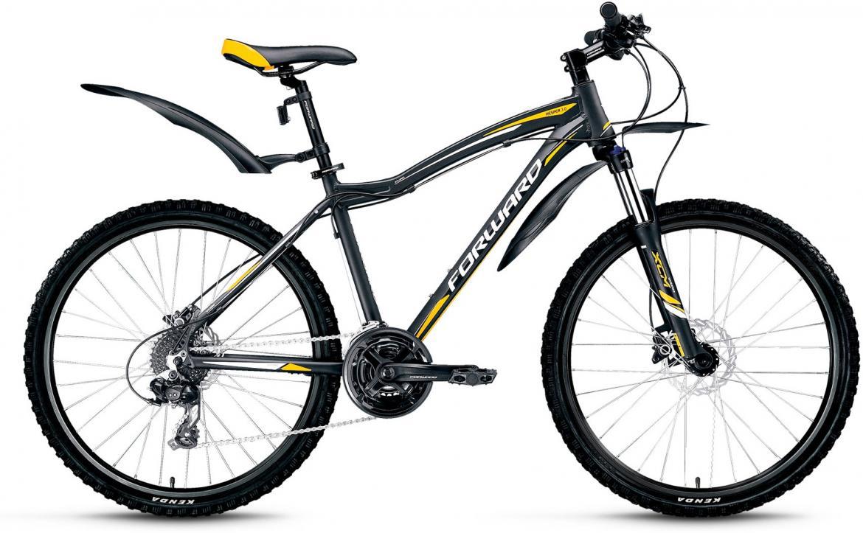 Велосипед горный Forward Hesper 3.0 2016, цвет: черный, рама 17, колесо 26275268