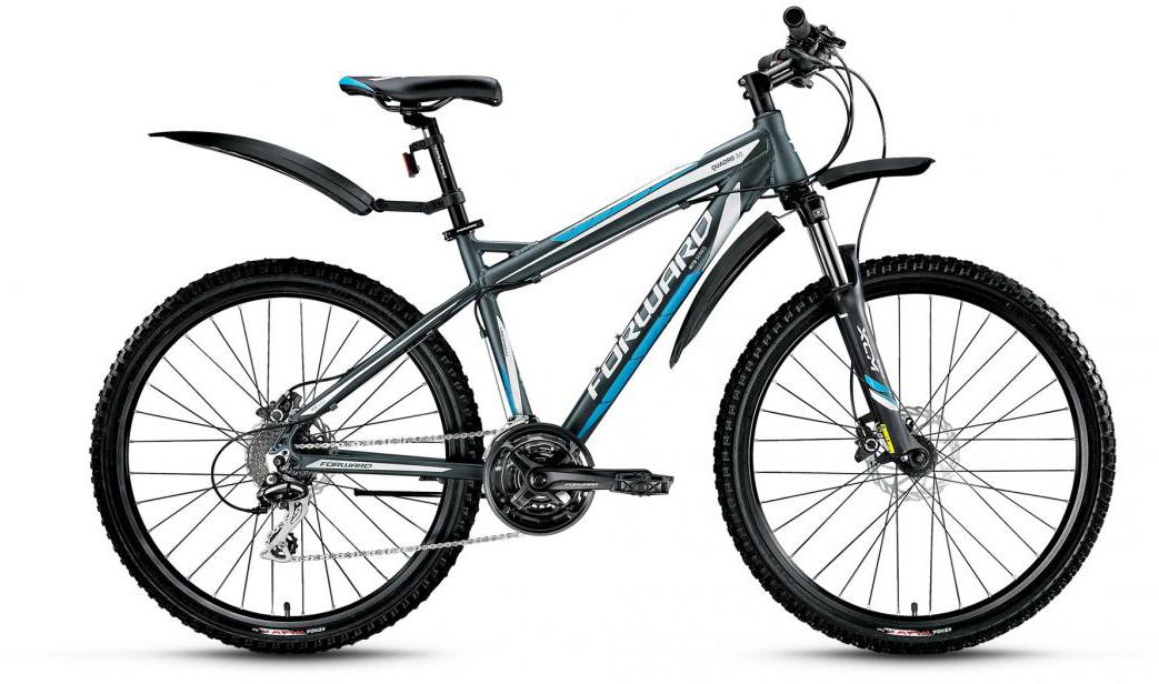 Велосипед горный Forward Quadro 3.0 2016, цвет: серый, рама 17, колесо 26275272