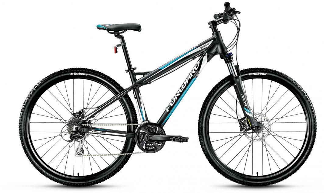 Велосипед горный Forward Quadro 3.0 2016, цвет: черный, рама 19, колесо 29275276