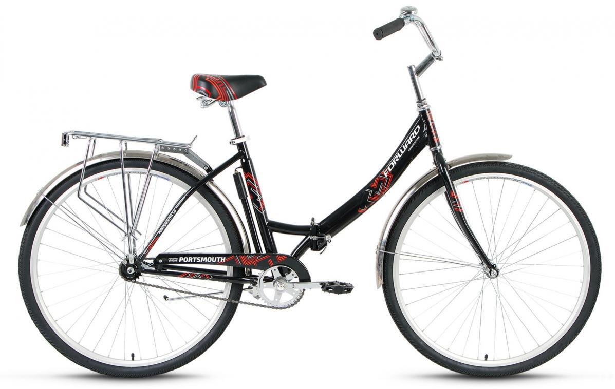 Велосипед городской Forward Portsmouth 1.0 2016, цвет: черный, рама 19, колесо 28275278
