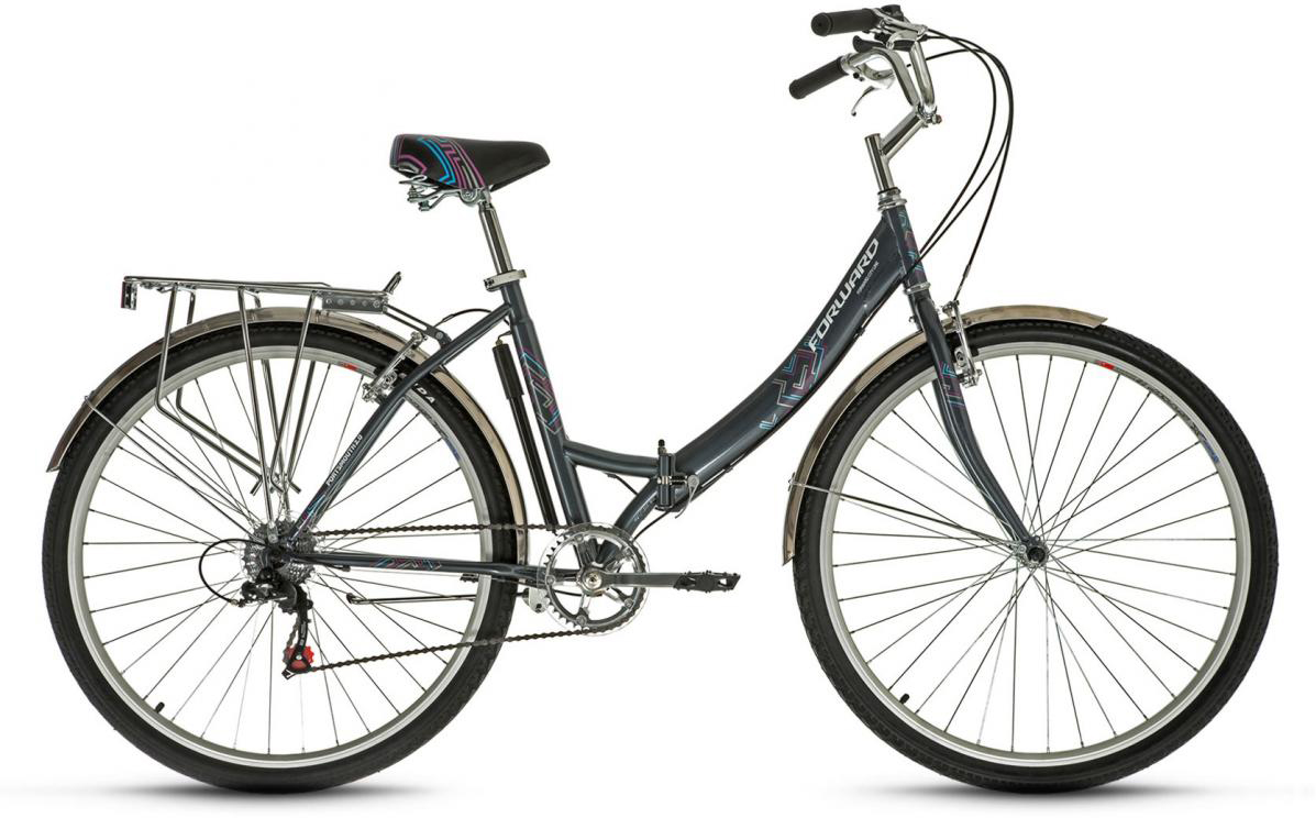 Велосипед городской Forward Portsmouth 2.0 2016, цвет: серый, рама 19, колесо 28275279